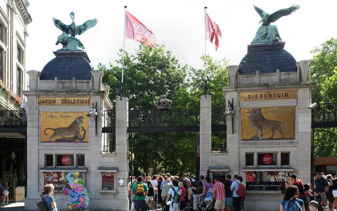 Entrance to the Zoo in Antwerp, Belgium