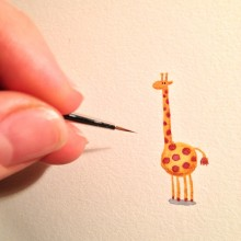 Teenytiny Giraffe by Evgenia